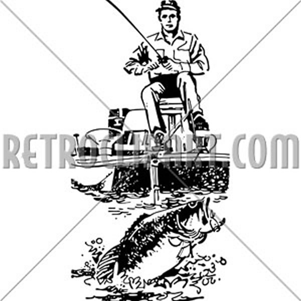 Bass Fisherman In Boat