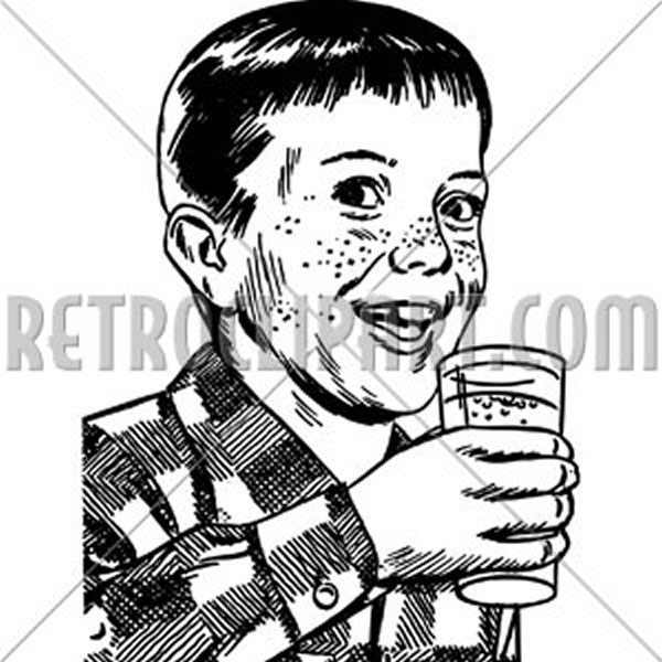 Boy With Drinking Glass