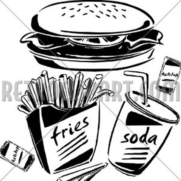 Burger, Fries & Soda