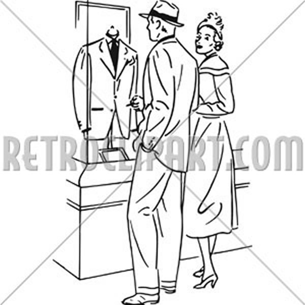 Couple Shopping For A Suit