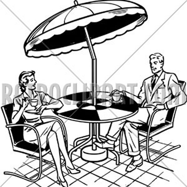 Couple Sitting On Patio