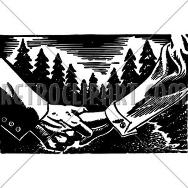 Holding Hands In Forest