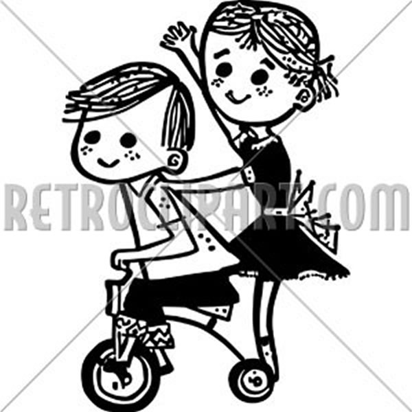 Kids On A Tricycle