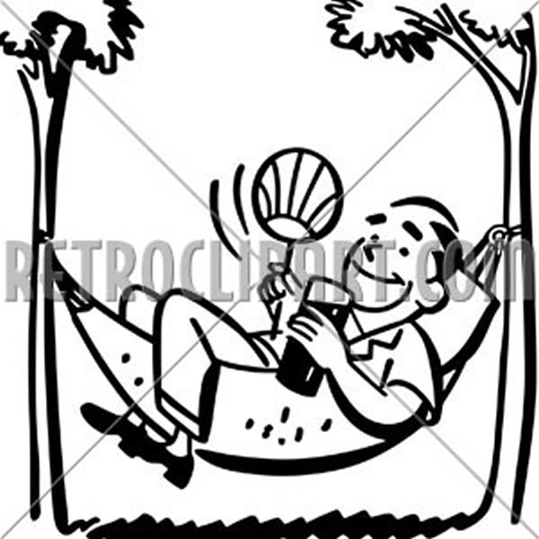 Man Lounging In Hammock
