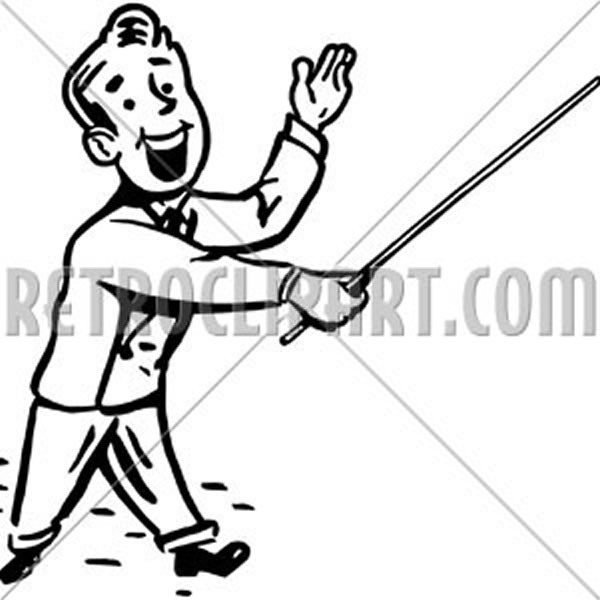 Man With Pointer Stick