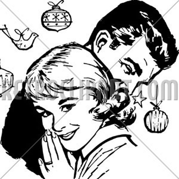 Retro Christmas Couple