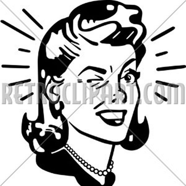 Retro Woman Winking