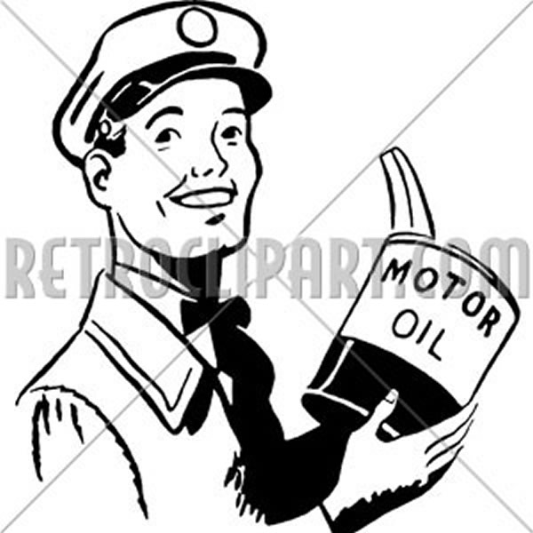Serviceman With Motor Oil