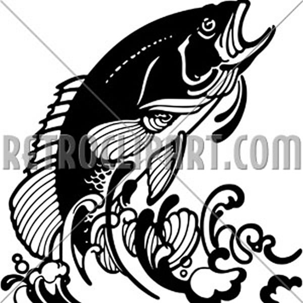 Stylized Jumping Fish