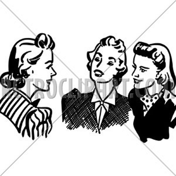 Three Gals Chatting
