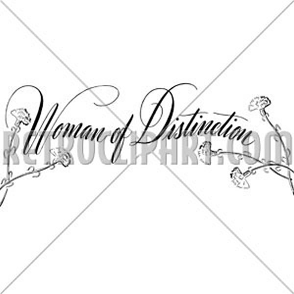 Woman Of Distinction