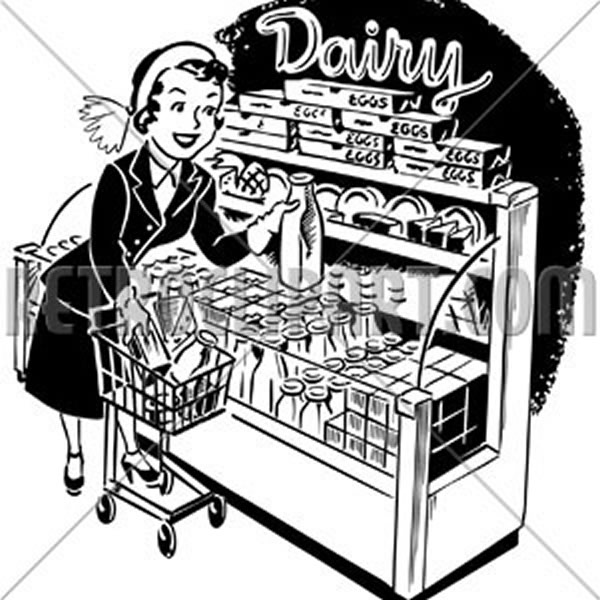 Woman Shopper At Dairy